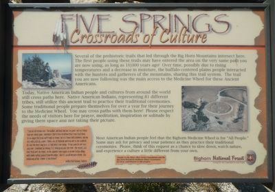 Five Springs Marker image. Click for full size.