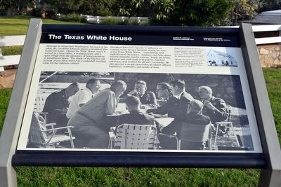 The Texas White House Marker image. Click for full size.