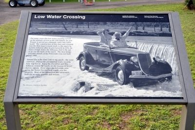 Low Water Crossing Marker image. Click for full size.