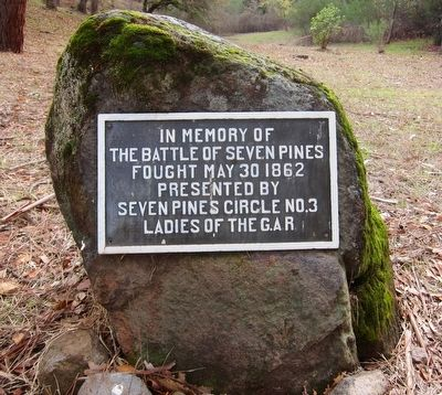 Battle of Seven Pines Memorial Marker image. Click for full size.