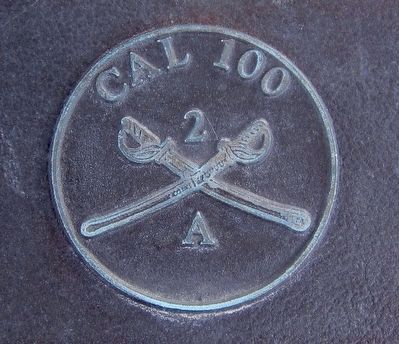 Cal 100 Hat Brass (as depicted on marker) image. Click for full size.