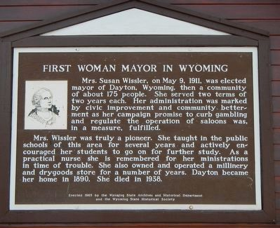 First Woman Mayor in Wyoming Marker image. Click for full size.