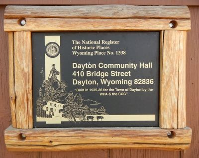 Dayton Community Hall Marker image. Click for full size.