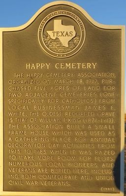 Happy Cemetery Marker image. Click for full size.
