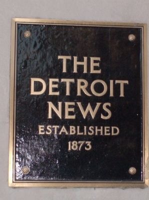 The Detroit News plaque image. Click for full size.