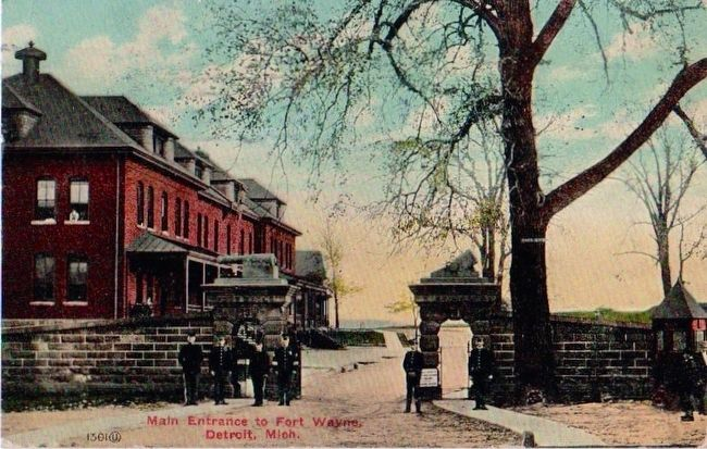 <i>Main Entrance to Fort Wayne, Detroit, Mich.</i> image. Click for full size.
