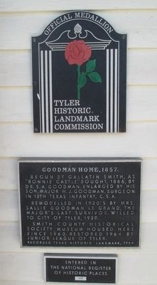 Goodman Home Marker image. Click for full size.