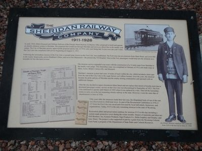 The Sheridan Railway Company Marker image. Click for full size.