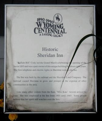 Historic Sheridan Inn Marker image. Click for full size.