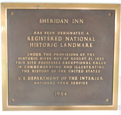 Sheridan Inn image. Click for full size.
