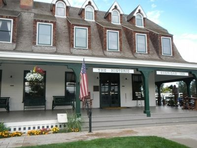 Historic Sheridan Inn and Marker image. Click for full size.