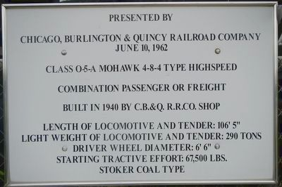 Class 0-5-A Mohawk Locomotive Marker image. Click for full size.