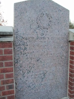 Major James P. Douglas Marker - East Face image. Click for full size.