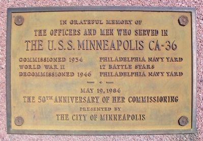 USS Minneapolis CA-36 Marker image. Click for full size.