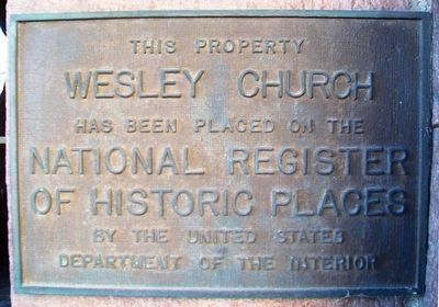 Wesley Church NRHP Marker image. Click for full size.