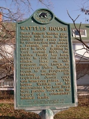 Wattles House Marker image. Click for full size.