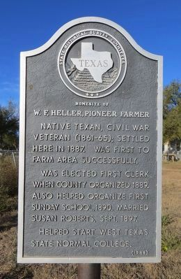 W. F. Heller, Pioneer Farmer Marker image. Click for full size.