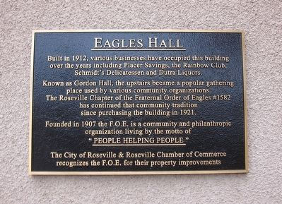 Eagles Hall Marker image. Click for full size.