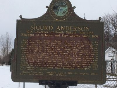 Sigurd Anderson Marker image. Click for full size.