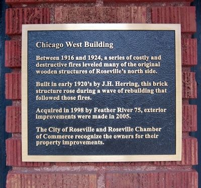 Chicago West Building Marker image. Click for full size.