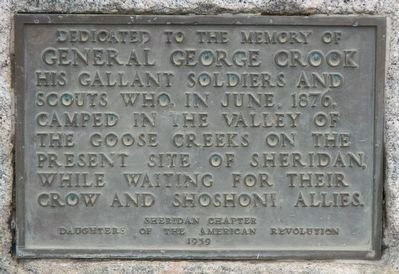 General George Crook Marker image. Click for full size.