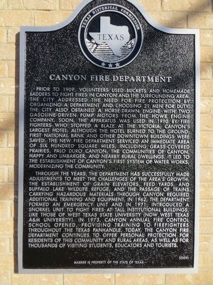 Canyon Fire Department Marker image. Click for full size.