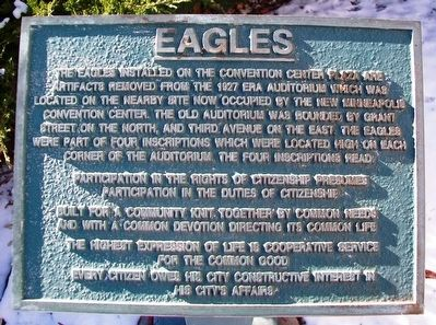 Eagles Marker image. Click for full size.