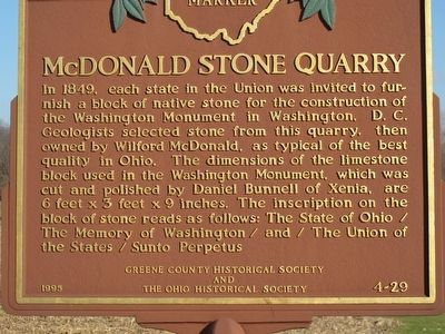 McDonald Stone Quarry Marker image. Click for full size.