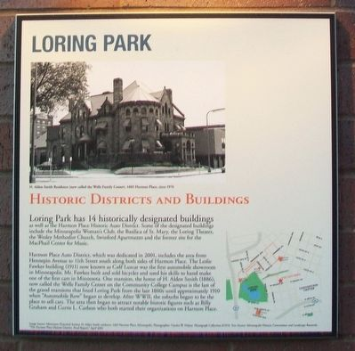 Loring Park: Historic Districts and Buildings Marker image. Click for full size.
