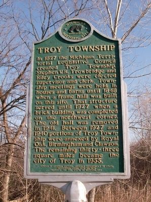 Troy Township Marker image. Click for full size.