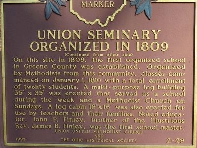Union Seminary Marker image. Click for full size.