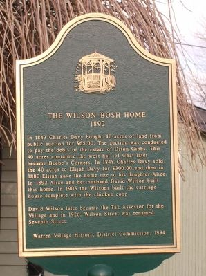 The Wilson-Bosh Home Marker image. Click for full size.