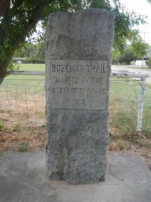 Bozeman Trail Marker image. Click for full size.