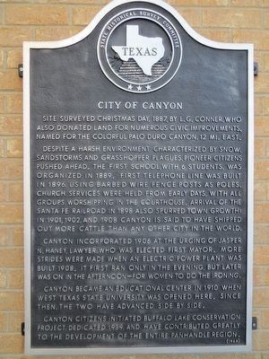 City of Canyon Marker image. Click for full size.