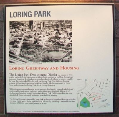 Loring Park: Loring Greenway and Housing Marker image. Click for full size.