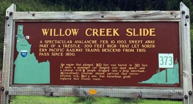 Willow Creek Slide Marker image. Click for full size.