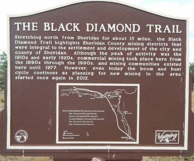 The Black Diamond Trail Marker image. Click for full size.