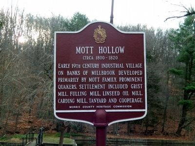 Mott Hollow Marker image. Click for full size.