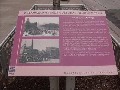 Woodward Avenue Cultural Heritage Tour - Campus Martius Marker image. Click for full size.