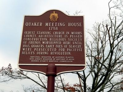 Quaker Meeting House Marker image. Click for full size.