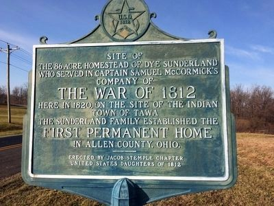 Site of the 86 Acre Homestead of Dye Sunderland Marker image. Click for full size.