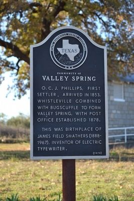 Community of Valley Spring Marker image. Click for full size.