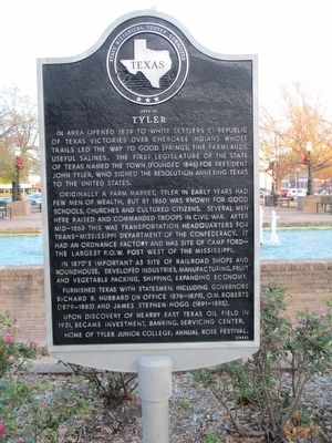 City of Tyler Marker image. Click for full size.