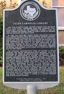 Tyler Carnegie Library Marker image. Click for full size.