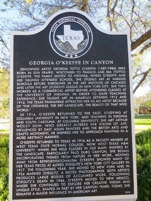 Georgia O'Keeffe in Canyon Marker image. Click for full size.