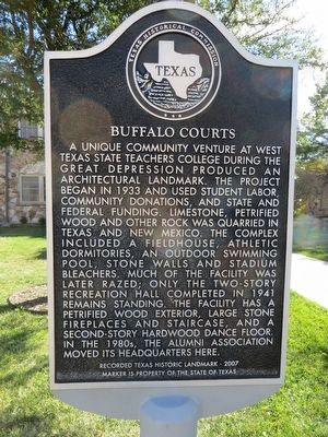 Buffalo Courts Marker image. Click for full size.
