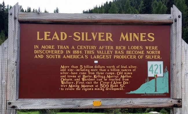 Lead-Silver Mines Marker image. Click for full size.