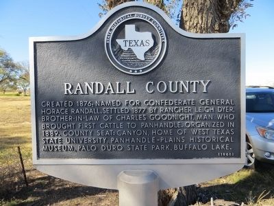 Randall County Marker image. Click for full size.