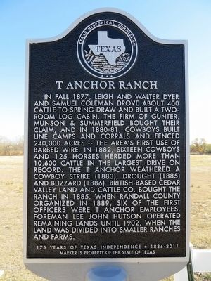 T Anchor Ranch Marker image. Click for full size.