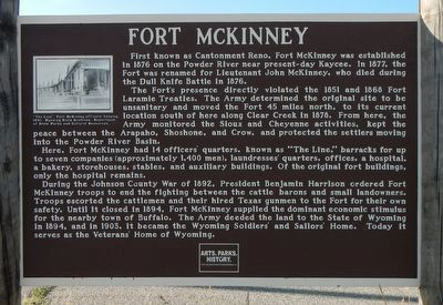 Fort McKinney Marker image. Click for full size.